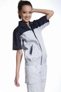 夏季短袖厂服汽车短袖工作服女装工作服套装来样订做批发