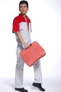 夏款职业工装套装 男式短袖工作服 透气吸汗不易变形批发