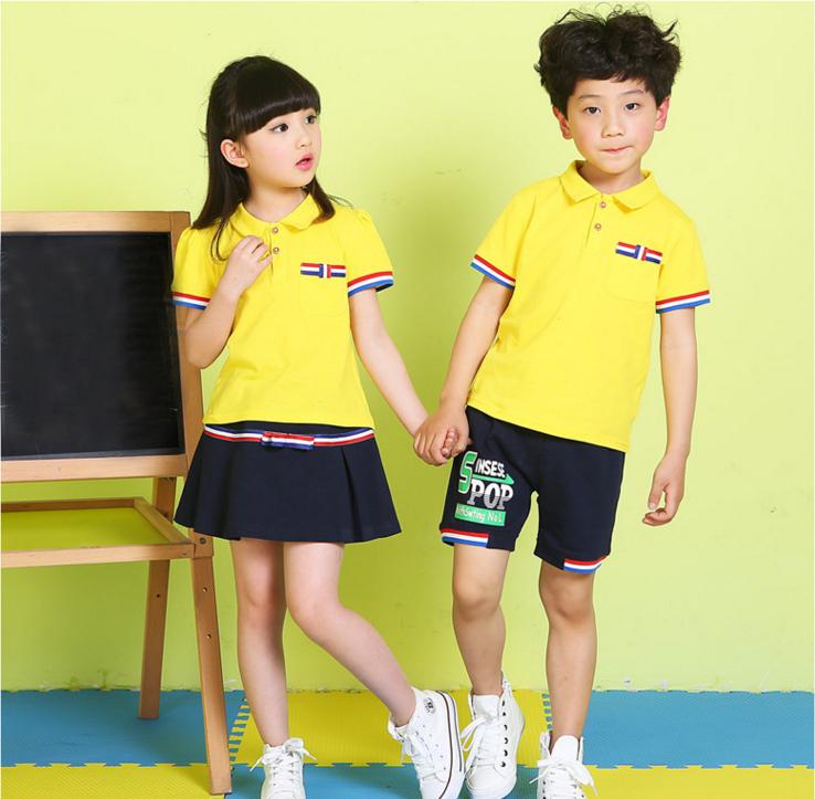 儿童园服纯棉夏季套头运动服定制运动套装校服