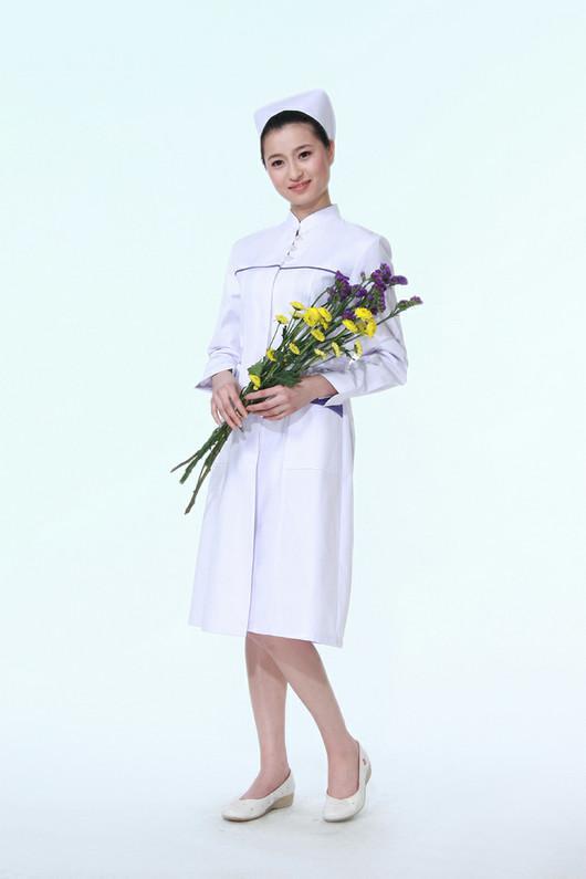 厂家定制医护长袖白大褂 医院医生工作服 药店实验室护士服