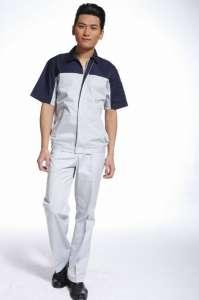 工作服短袖男女套装夏季工程服装劳保服电工服汽修短袖